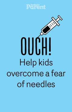 Simple strategies for every age to help reduce the pain and fear of needles. #HelpfulTips