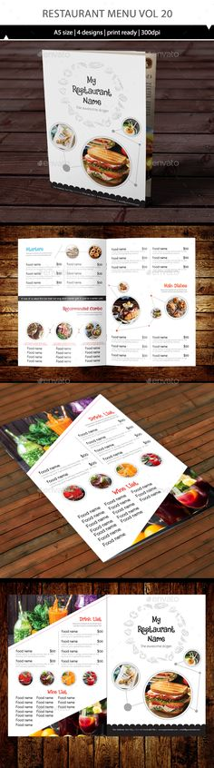 Food Menu - Chalk Board Restaurant Menu design, Design templates - menu design template