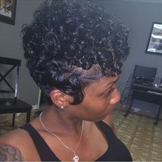 Perm Rod Set On Tapered Haircut
