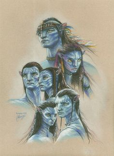 Design your own photo charms compatible with your pandora bracelets. Jake Sully and Neytiri by art-imaginations (Natalia and Ekaterina) - Avatar Avatar Film, Amazing Drawings, Realistic Drawings, Avatar James Cameron, L Elf, Avatar Fan Art, Avatar Tattoo, Ben Oliver, Stephen Lang