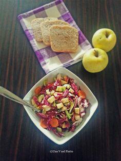 Insalata di radicchio, sedano e mela golden - Una V nel piatto - Ricette Vegane e Mondo Vegan