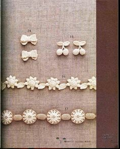 Understated classic crocheted jewelry