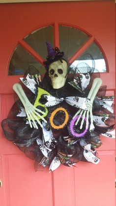Halloween Deco Mesh Wreath by SouthernSWreaths on Etsy
