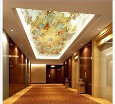 Free shopping 2015 New Non woven The sitting room the bedroom hall zenith ceiling mural wallpaper-in Wallpapers from Home & Garden on Aliexpress.com   Alibaba Group