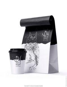 Day & Night - The Logo Community™ - The Logo Creative™ - Logo Design - Corporate Identity - Branding Coffee Logo, Coffee Branding, Coffee Packaging, Brand Packaging, Food Packaging, Coffee Shop, Chocolate Packaging, Design Packaging, Bottle Packaging