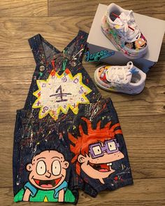 Behind The Scenes By jaycee_customs Baby Boy Birthday Outfit, 1st Birthday Boy Themes, Boys First Birthday Party Ideas, Monster Birthday Parties, 1st Boy Birthday, Rugrats, Outfits Niños, Kids Outfits, Baby Shower Deco