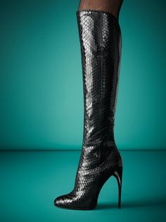 Gucci Python Knee Boot **follow group board Best Shoes, boots heels♡ to be added just comment on a post**