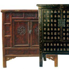 Antique Asian Medium and Small Cabinets