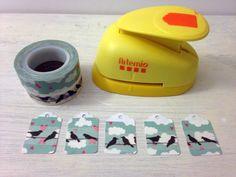 Etiquetas 2 tipos de washi y troqueladas.