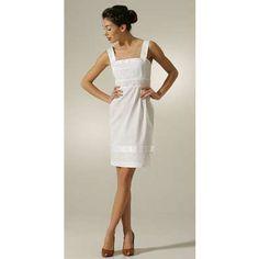 Catherine Malandrino Square Neck Dress with Tulip Skirt