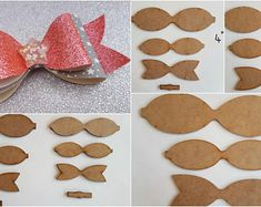 Hair bow wooden templates, make your own beautiful Hair bows 5 sizes, set