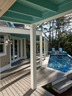 - HGTV Smart Home 2013: small pool and covered porch