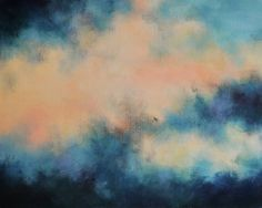 The Storm Original Abstract Painting Modern wall by Natureandart, $280.00