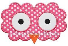 Owl Face Applique Design