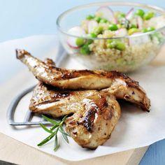 Recette salade de quinoa et de légumes croquants au lapin...