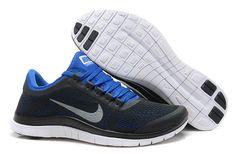 Mens Nike Free 3.0 V5 Black Royal Blue Shoes