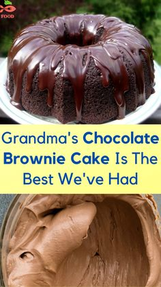 Easy Desserts, Delicious Desserts, Yummy Food, Chocolate Brownie Cake, Cake Mix Recipes, Dessert Recipes, Eat Dessert First, Bundt Cakes, How Sweet Eats