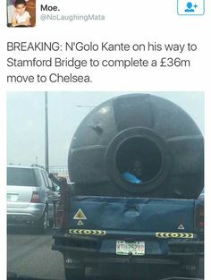 Kante on his way to Chelsea 😂😂 #cfc #kante #lcfc #prem #bpl