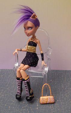 Mohawk Howleen Custom Monster High Doll by Insideouthouse on Etsy