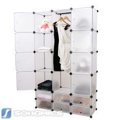 Elegant Regal Schrank Garderobeschrank W scheschrank Kleiderschrank Aufbewahrung LPCG