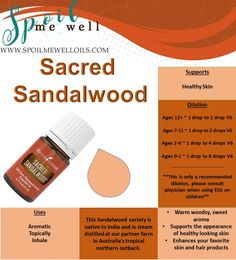 What is Sacred Sandalwood? This sandalwood variety is native to India and is steam distilled at our partner farm in Australia's tropical northern outback to ensure its authenticity and purity. Sacr…
