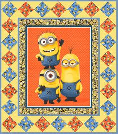 Free Exclusive Quilt Pattern - Minion Mania