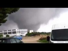 Huge tornado in Italy up close and personal - Almost Swept away - YouTube
