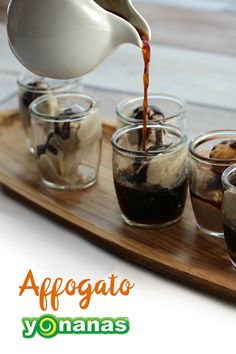 Affogato Yonanas. Reinvent the Italian Dessert - but Dairy-Free: Bananas, Cinnamon & Chocolate soaked in Hot Coffee!