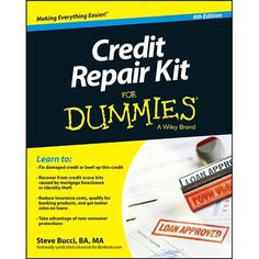 Manage and repair your credit Credit card debt is the third largest source of household indebtedness. Credit Repair Kit For Dummies gives you the tools you need to repair your credit. This new edition covers: major changes with the Consumer Financial Protection Bureau's (CFPB) inquiry into overdraft practices and their effect on consumers; dealing with the effect of tightened credit markets on those with good, marginal, or bad credit; best ways to recover from mortgage related score hits or mini Fix Bad Credit, How To Fix Credit, Build Credit, Chase Credit, What Is Credit Score, Improve Your Credit Score, Credit Repair Companies, Credit Bureaus, Credit Rating