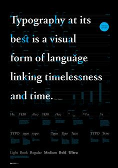 A poster with informations about the anatomy of letters with a quotation from Robert Bringhurst