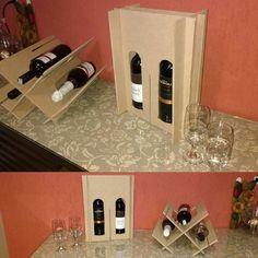 Caixa adega para vinhos ( *** foto ilustrativa! não acompanha bebidas). Produzida em madeira MDF Cru, ótima opção para embalar vinhos com muita praticidade até  duas garrafas e depois transforma em uma linda adega decorativa para até três garrafas.  #adega  #caixaadega #elletartecommadeira #criativo #caixaparabebidas *** foto ilustrativa! não acompanha bebidas.  Consulte-nos!!! Aceitamos encomendas.  Whatsapp (11) 99195-6548  Altura: 40.00 cm Largura: 15.00 cm Comprimento: 30.00 cm