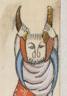 Detail from The Luttrell Psalter, British Library Add MS 42130 (medieval manuscript,1325-1340), f4r