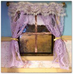 miniature dollhouse drapes