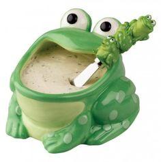 Frog Dip Bowl and Spreader