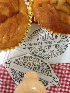 MMmm personalised 'homemade by' stamps by Bloomfield & Rolfe #homemadeideas #DIYlabels #rubberstamp #bloomfieldandrolfe