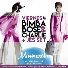 La #FridayNight correrá a cargo de  BIMBA BOSÉ + CHARLIE CENTA  que llevarán la noche a lo más alto hit tras hit!
