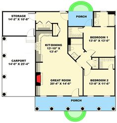 The Perfect Cottage! - 2562DH | 1st Floor Master Suite, Carport, Country, PDF, Southern | Architectural Designs