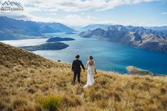 Bride & Groom New Zealand destination wedding, wanaka wedding package, heli wedding