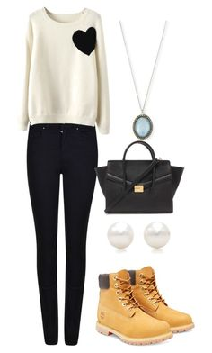 """""""Heart"""" by jacquelinebroersen on Polyvore featuring mode, Armani Jeans, WithChic, Timberland, Armenta, Tiffany & Co., Forever 21, women's clothing, women en female"""