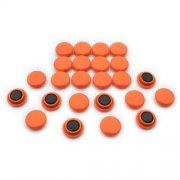 Small Orange Notice Board/Planning Magnets (20mm dia x 7.5mm high) (10 packs of 24)