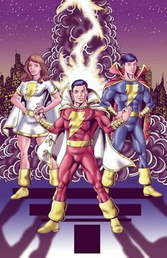 The Power of Shazam! by Alex Garcia Shazam Comic, Shazam Dc Comics, Marvel Dc Comics, Original Captain Marvel, Captain Marvel Shazam, Dc Comics Collection, Batman Comic Books, Comic Art, Dc Comics Characters
