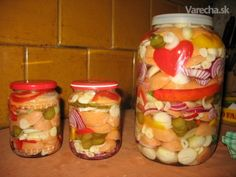 Czech Recipes, Sausage Recipes, Ale, Mason Jars, Stuffed Peppers, Vegetables, Czech Food, Veggies, Ales