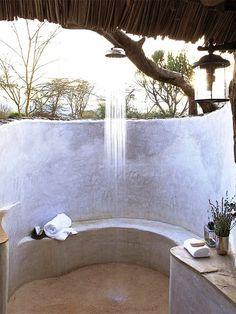 Outdoor shower. Love.