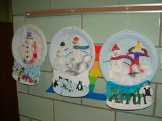January Family Project!! 3D Plate Snow Globes