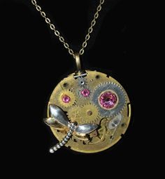 Dragon Fly Steampunk Necklace.