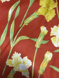 Vintage 1980s Waverly Schumacher Carnations by AnneStewartPage