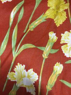 Vintage 1980s Waverly Schumacher Carnations by AnneStewartPage