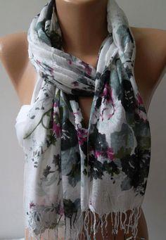 Shawl for Summer  / Elegance Shawl / Scarf / soft and by womann,
