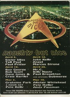 Naughty But Nice Crystal Rooms Hereford August 1997