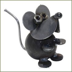 Yardbirds Scrap Metal Church Mouse Sculpture Figurine - Animal ...